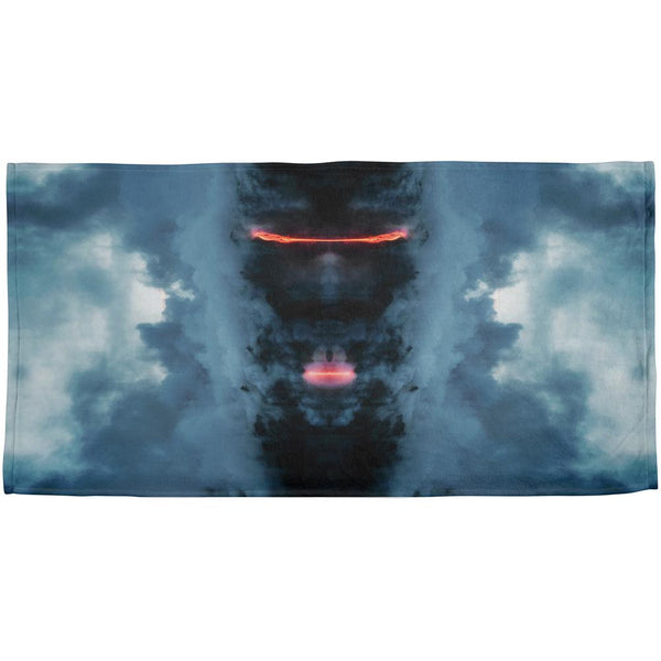 Demons In The Mist Lava All Over Beach Towel