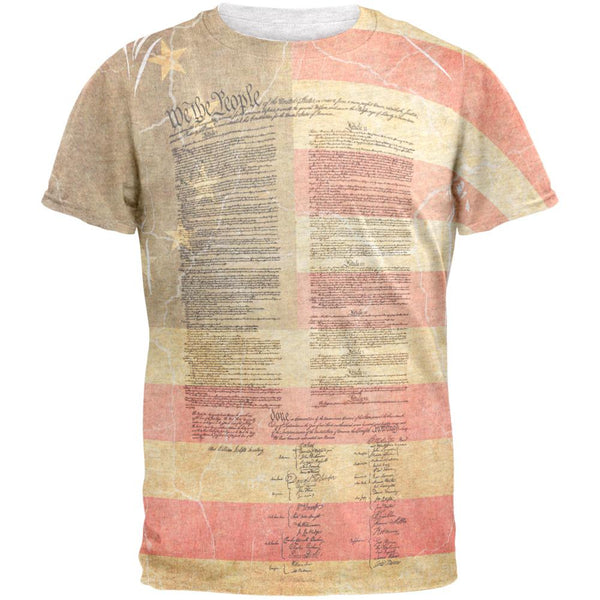 July 4th United States Constitution Betsy Ross Flag Mens T Shirt