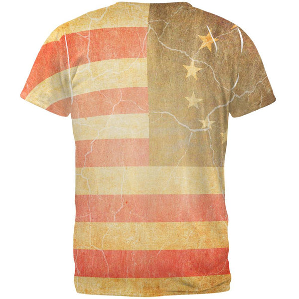 July 4th United States Constitution Betsy Ross Flag All Over Mens T Shirt