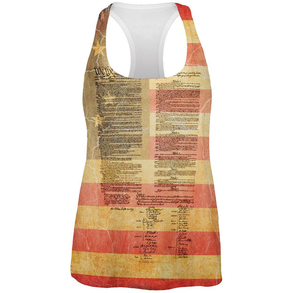 July 4th United States Constitution Betsy Ross Flag All Over Womens Work Out Tank Top