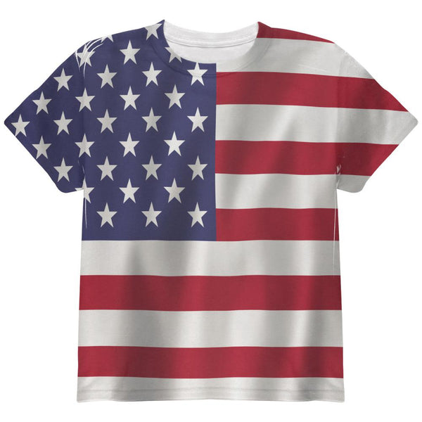 American Flag All Over Youth T Shirt