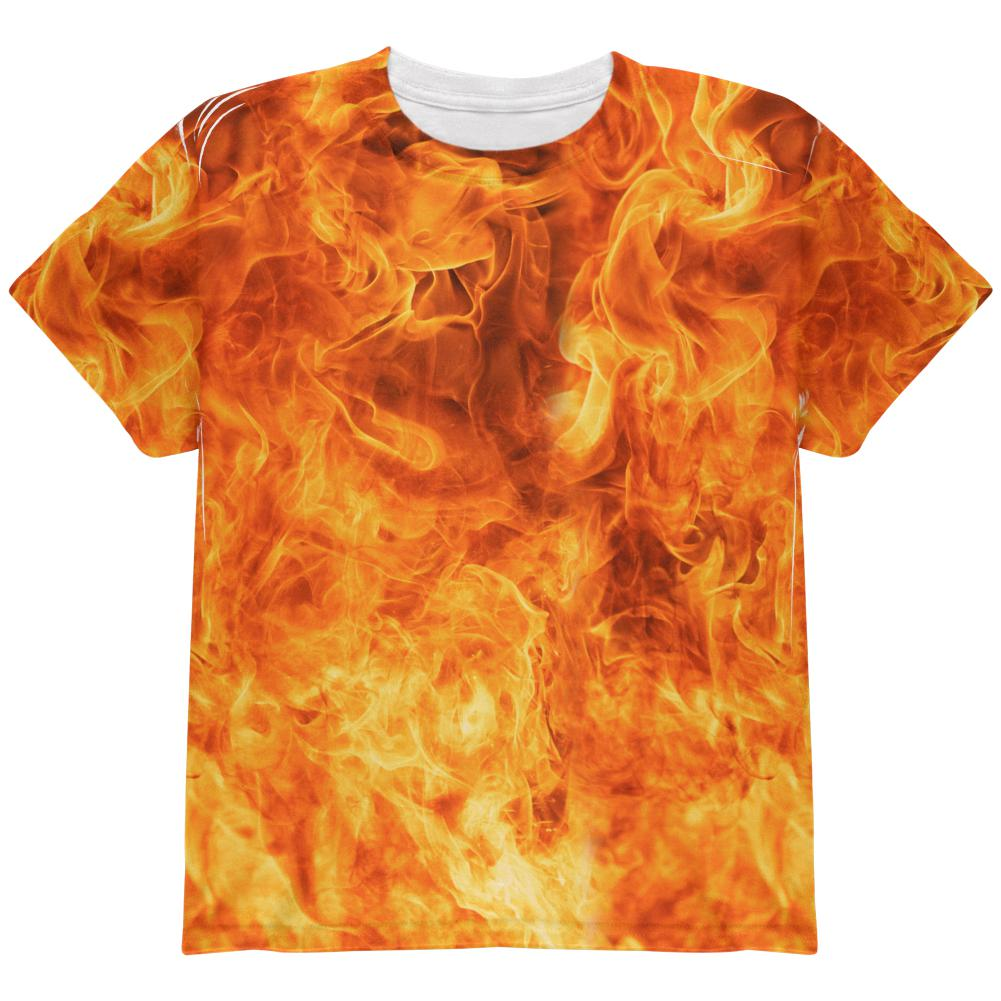 T Over Flames Youth Shirt Halloween Fire – All Costume LVqUzGpSM