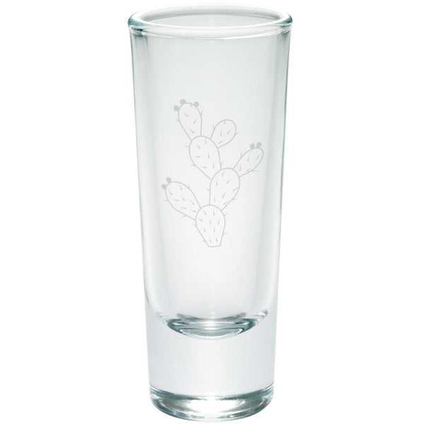 Cinco de Mayo Prickly Pear Cactus Etched Shot Glass Shooter