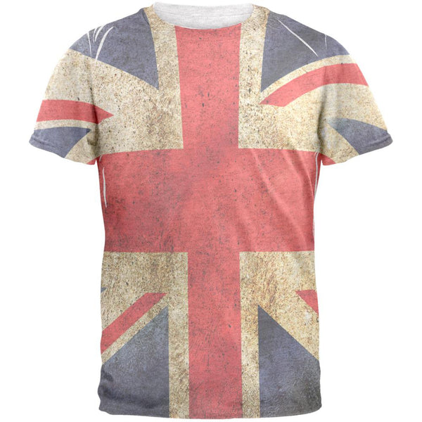 British Flag Union Jack Grunge Distressed Mens T Shirt