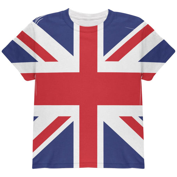 British Flag Union Jack All Over Youth T Shirt