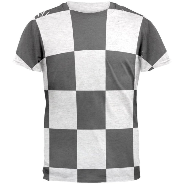 Finish Line Checkered Flag Mens T Shirt