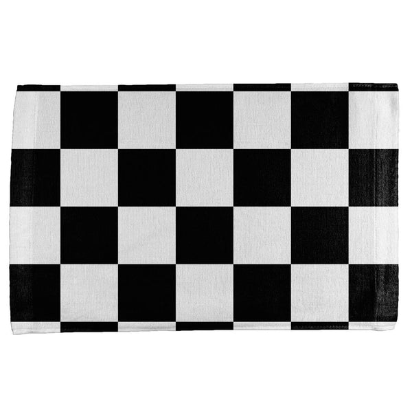 Finish Line Checkered Flag All Over Hand Towel