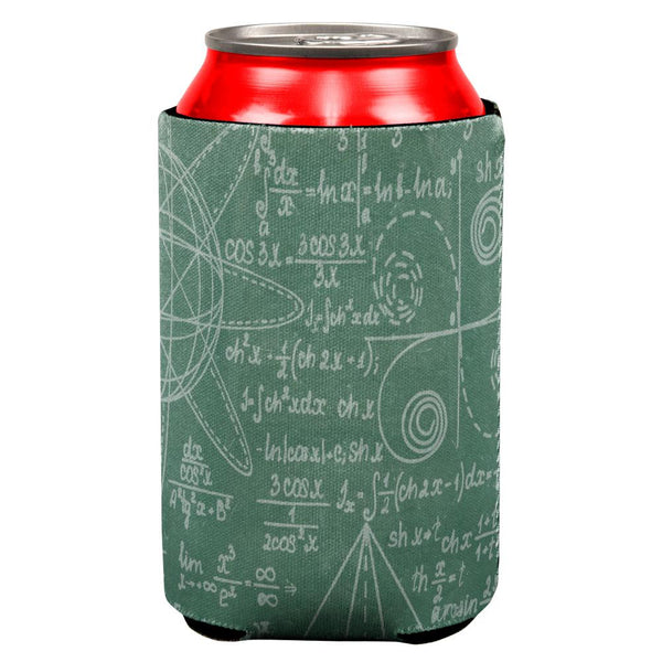 Math Geek Formulas Chalkboard All Over Can Cooler