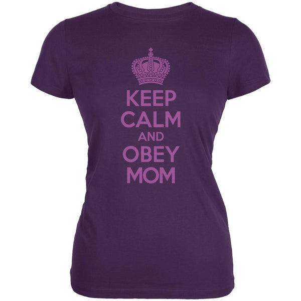 Mother's Day Keep Calm And Obey Mom Juniors Soft T Shirt
