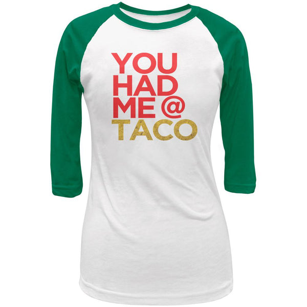Cinco de Mayo You Had Me at Taco Juniors 3/4 Raglan T Shirt