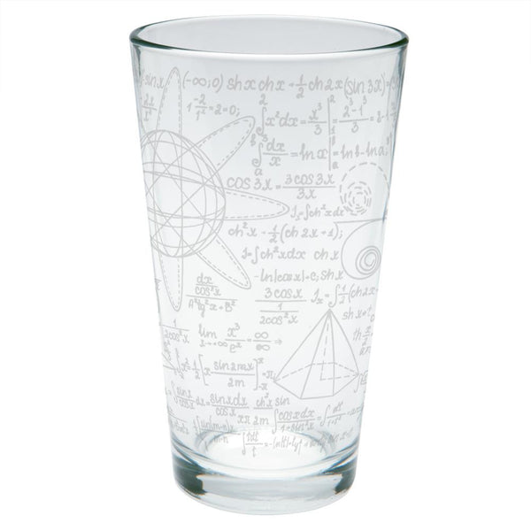Math Geek Formulas Etched Pint Glass