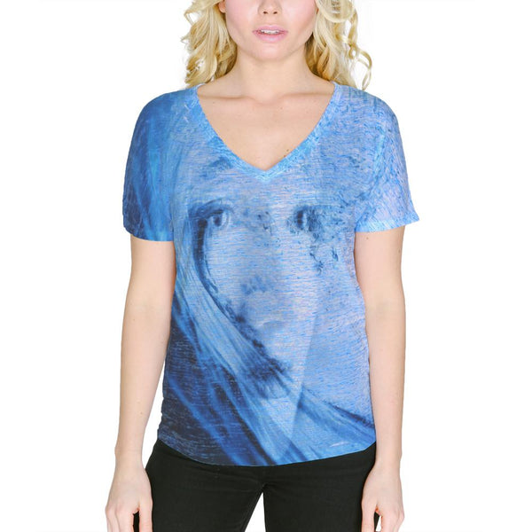 Beware The Siren Song Of Sadness Women's Slouchy V-Neck T Shirt