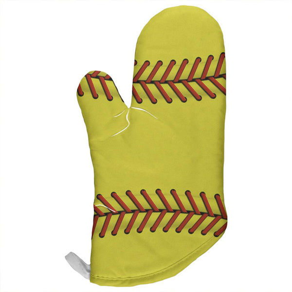Softball All Over Oven Mitt
