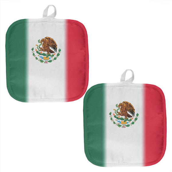 Cinco De Mayo Mexican Flag All Over Pot Holder (Set of 2)
