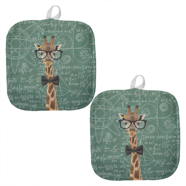 Giraffe Math Geek Formulas All Over Pot Holder (Set of 2)