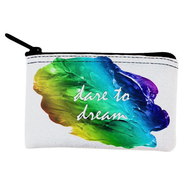 Inspirational Words Dare To Dream Coin Purse