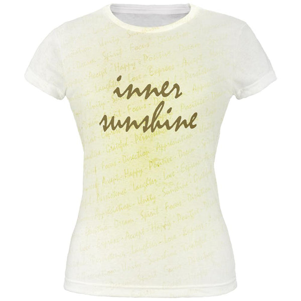 Inspirational Words Inner Sunshine All Over Juniors T Shirt