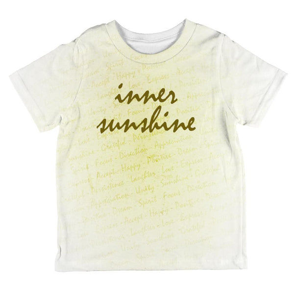 Inspirational Words Inner Sunshine All Over Toddler T Shirt