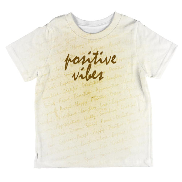 Inspirational Words Positive Vibes All Over Toddler T Shirt