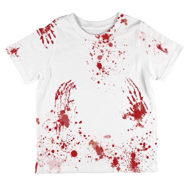 Halloween Blood Splatter All Over Toddler T Shirt