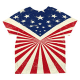 July 4th American Flag Starburst All Over Toddler T Shirt