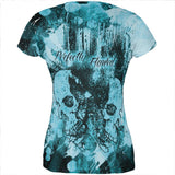 Perfectly Flawed Blue Dreaming Skulls All Over Juniors T Shirt