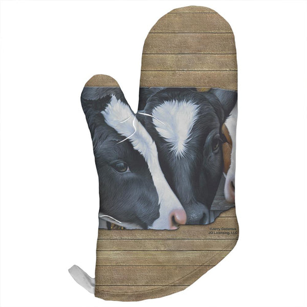 Queens of the Dairy Farm Cows All Over Oven Mitt