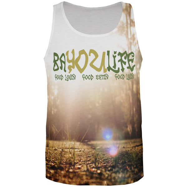 Bayou Life Swamp Sunrise Cajun Louisiana All Over Mens Tank Top