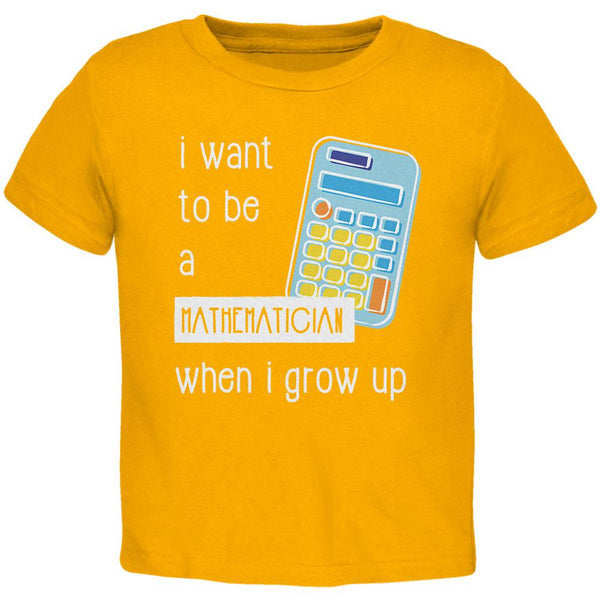 When I Grow Up Mathematician Toddler T Shirt