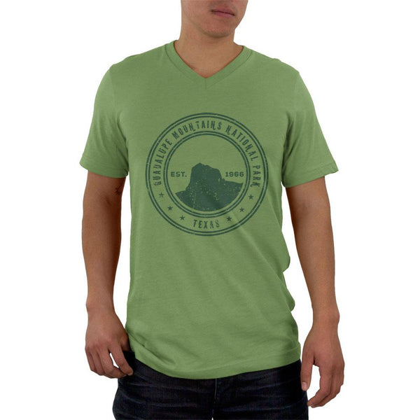 Guadalupe Mountains National Park Vintage Mens V-Neck T Shirt