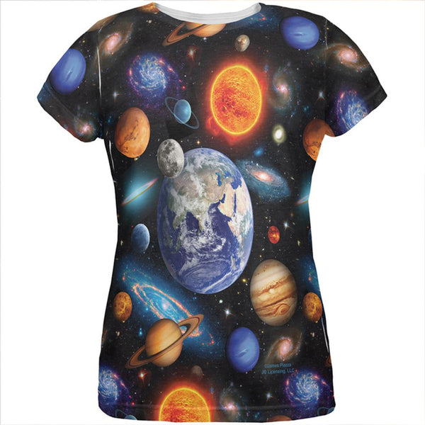 Galaxy Solar System All Over Womens T Shirt