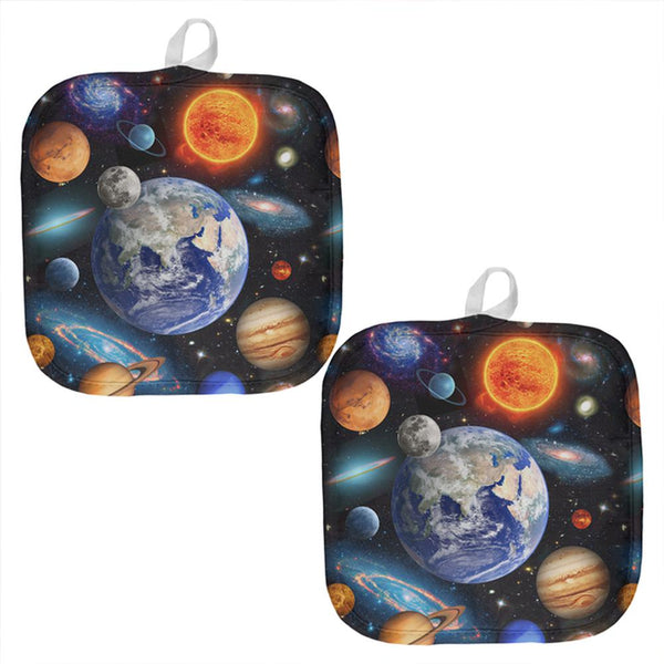 Galaxy Solar System All Over Pot Holder (Set of 2)