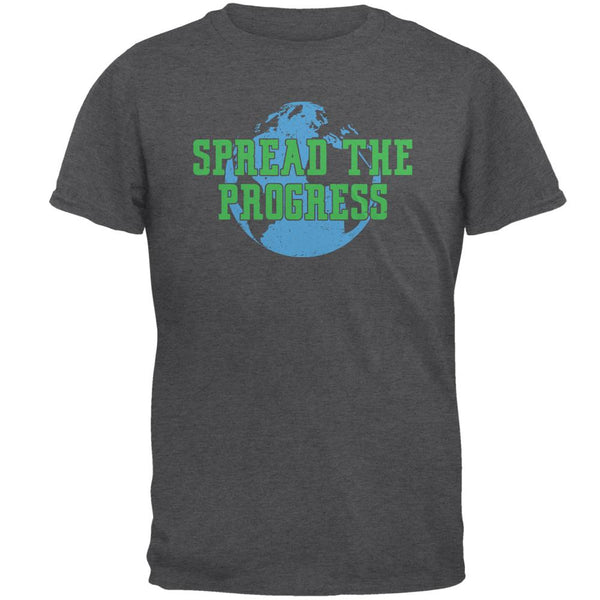 Spread The Progress Planet Earth Mens T Shirt