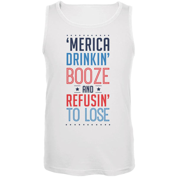 4th of July 'Merica Drinkin Booze Mens Tank Top