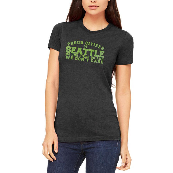Proud No One Likes Seattle Juniors Soft T Shirt