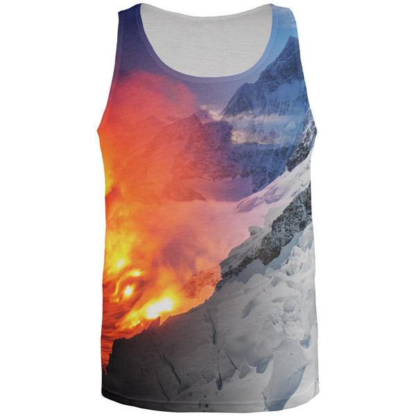 Extreme Nature Adventures Fire And Ice All Over Mens Tank Top
