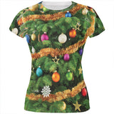 Christmas Tree Costume All Over Juniors T Shirt