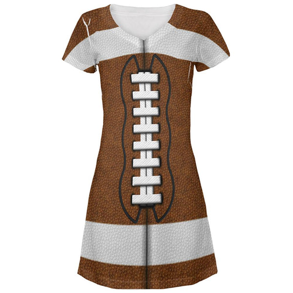 Football Costume All Over Juniors Beach Cover-Up Dress