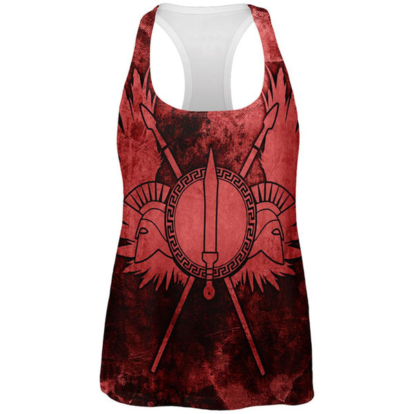 Spartan Greek Warrior Gladiator All Over Womens Work Out Tank Top