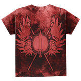 Spartan Greek Warrior Gladiator All Over Youth T Shirt