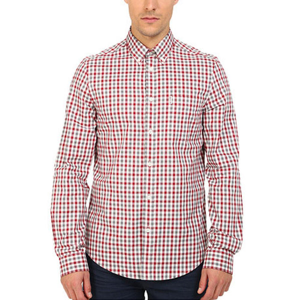 Ben Sherman - Gingham Mens Button-Up Long Sleeve Shirt