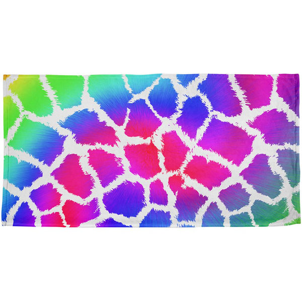 Show Your Colors Spots Gay Pride Rainbow All Over Beach Towel