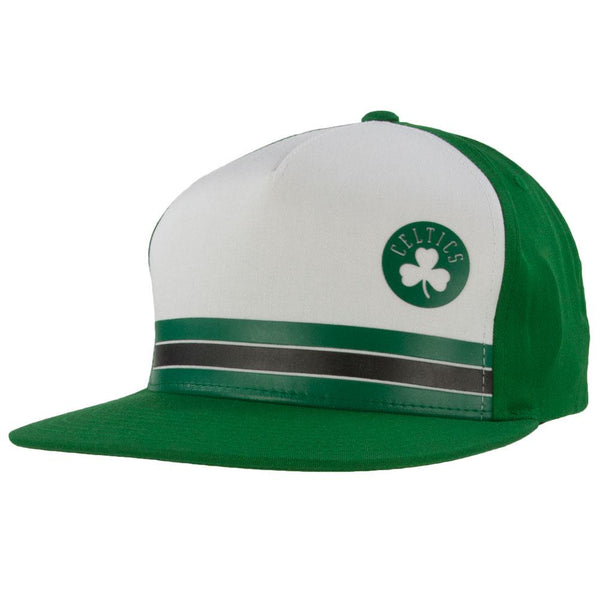 Boston Celtics - Pacific Stripe Mitchell & Ness Snapback Hat
