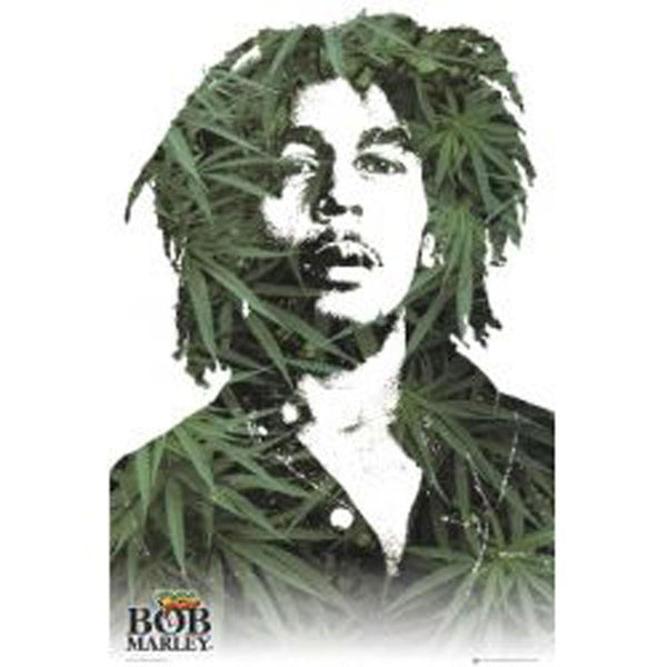 Bob Marley - Leaves 24in X 36in Wall Art Poster