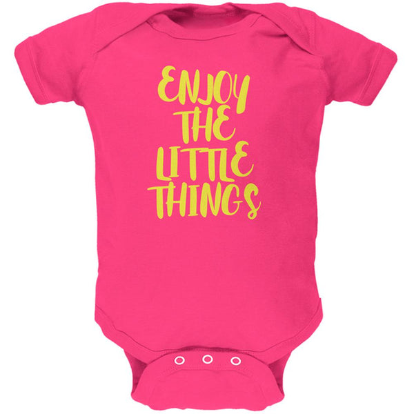 Enjoy The Little Things Soft Baby One Piece