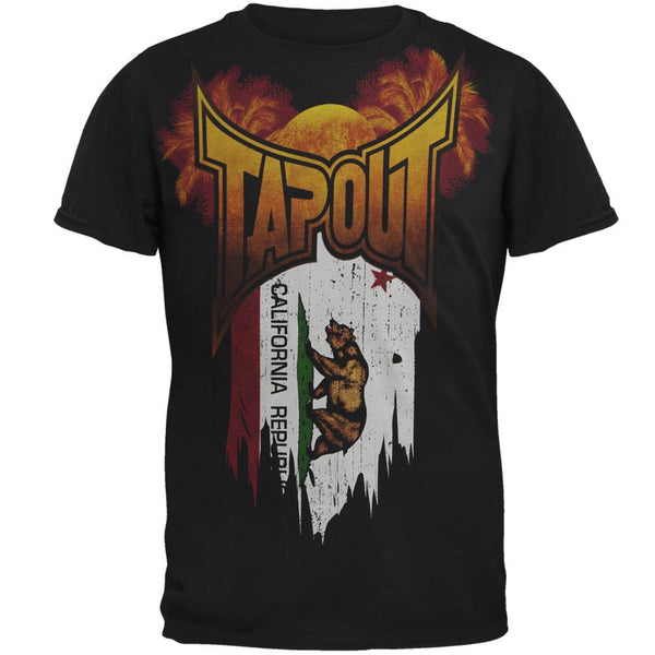 Tapout - CA Flag Mens Soft T Shirt