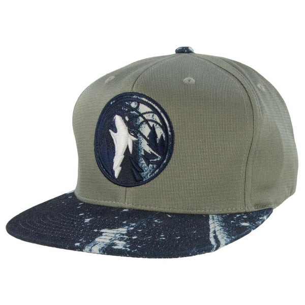 Minnesota Timberwolves - Stained Denim Earthtone Snapback Cap