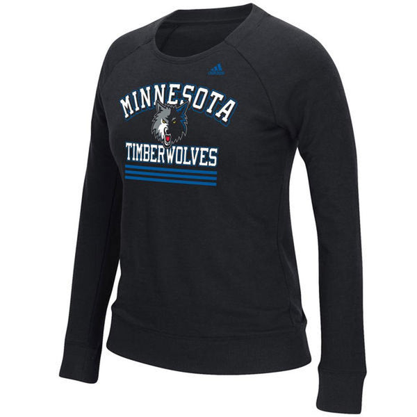 Minnesota Timberwolves - True Stripes Adidas Juniors French Terry Crewneck Sweatshirt
