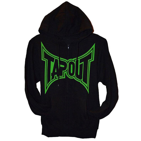 Tapout - Classic Green Logo Mens Zip Up Hoodie