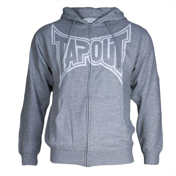 Tapout - Classic White Logo Mens Zip-Up Hoodie